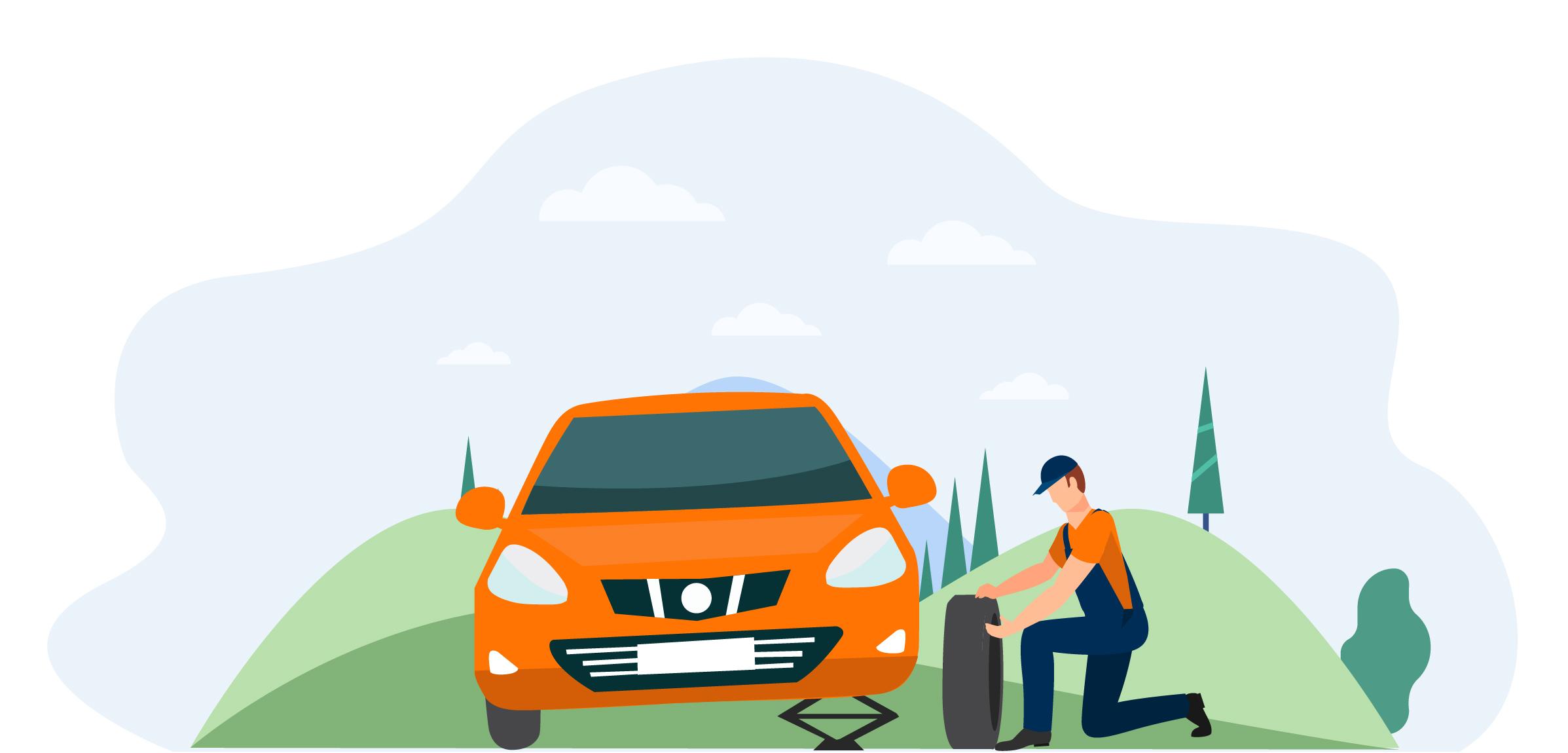 Oovoom vous montre comment changer votre pneu
